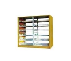 HLD-165 木护板双柱双面书架